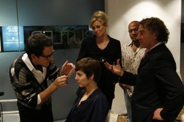 Holly Kiser during her makeover.