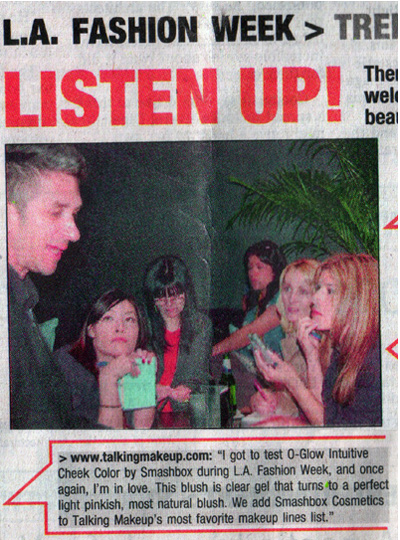 Talking Makeup in LA Daily News