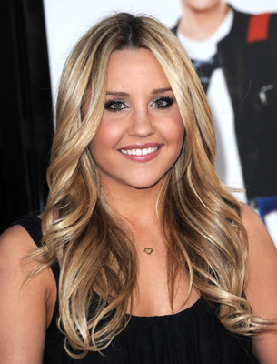 dark hair with blonde highlights
