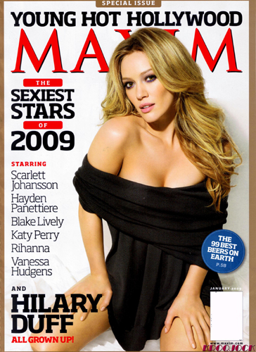 hilary duff hair. Hilary Duff is on the cover of