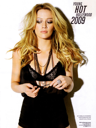 In fact I describe Hilary Duff's hairstyle as a Victoria's Secret inspired