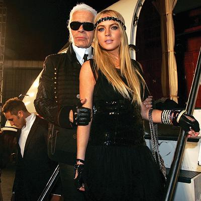 Karl Lagerfeld and Lindsay Lohan