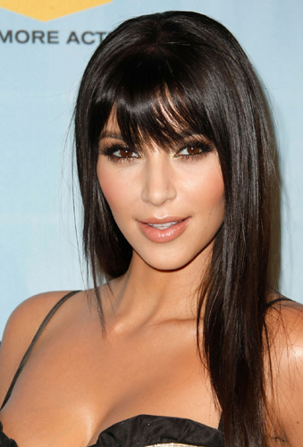 Kim Kardashian is showing off her new bangs at the Spike TV's 2008 Video