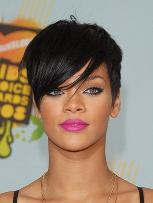 Rihanna's Short Pixie Hair Cut