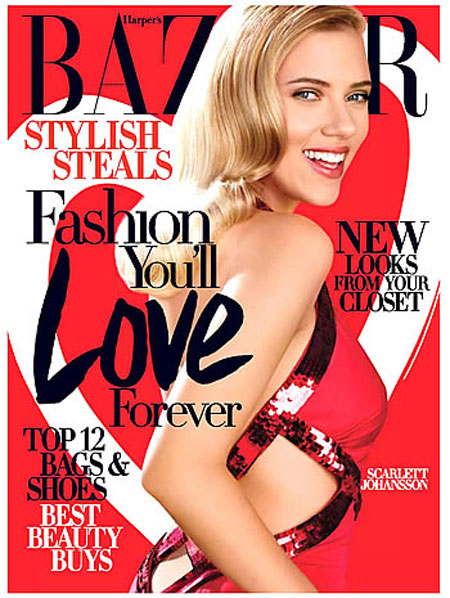 Looks like the main focus of the Harper's Bazaar February 2009 cover is